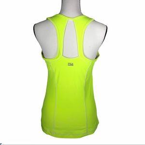 Fila neon yellow workout tank